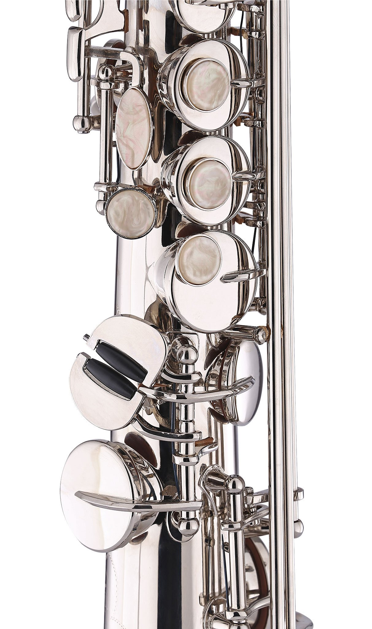 Kaizer Soprano Saxophone Straight B Flat Bb Nickel Silver SSAX-1000NK by Kaizer (Image #4)