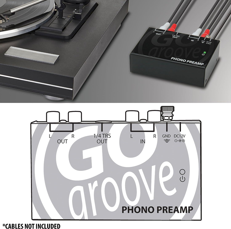 Amazon.com: GOgroove Mini Phono Turntable Preamp ...