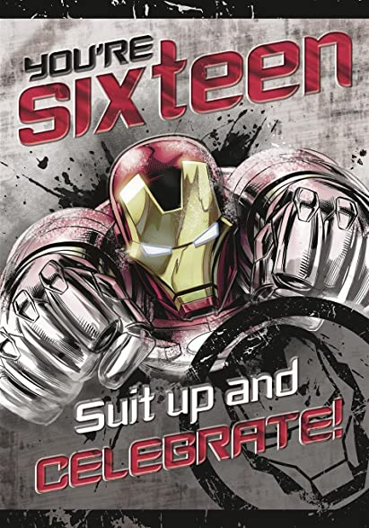 Amazon Iron Man 16th Birthday Card Avengers Office Products
