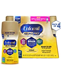 Enfamil NeuroPro Ready to Feed Baby Formula Milk, 8 fluid ounce - MFGM, Omega 3 DHA, Probiotics, Iron & Immune Support