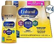 Enfamil NeuroPro Ready to Feed Baby Formula Milk, 8 Fluid Ounce (24 Count) - MFGM, Omega 3 DHA, Probiotics, Iron & Immune Sup