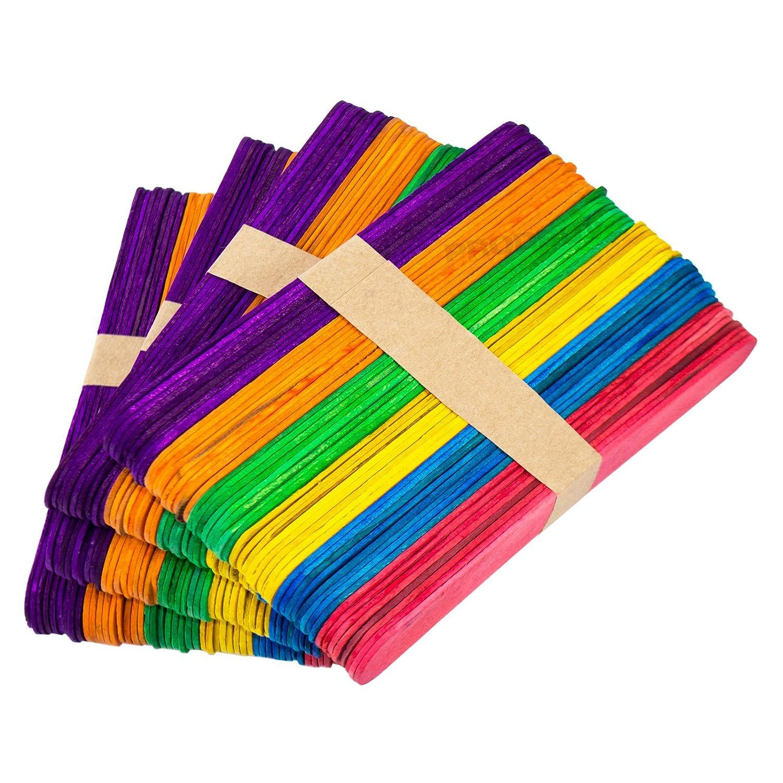 200 Pack Colour Regular Lollipop Sticks Ice Lolly Mould Stick Childrens Craft ProdBuy Limited