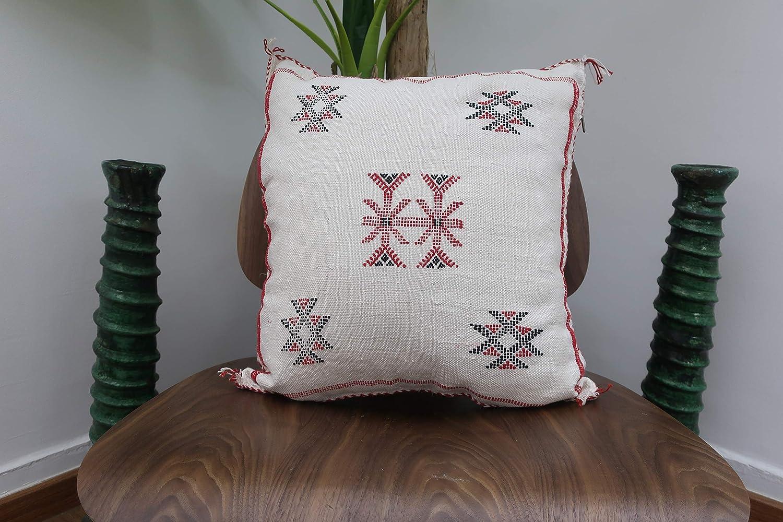 Amazon Com Handmade Moroccan Cactus Silk Throw Pillow 19 X 17 Handmade