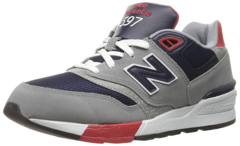 New Balance ML597NEC, Zapatillas de Running Hombre 43 EU|Gris (Grey/Navy)