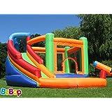 Grande aire de jeux gonflable et toboggan aquatique pour enfants Canyon de BeBop