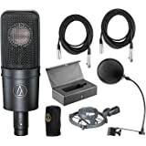 Audio-Technica AT4040 Cardioid Condenser Mic w/Pop Filter and (2) 20' XLR Cables