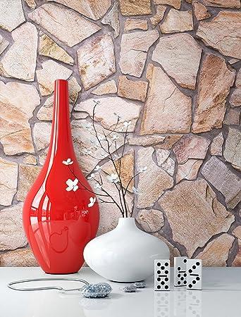 Hochwertig Steintapete Vlies Braun Beige | Schöne Edle Tapete Im Steinmauer Design |  Moderne 3D Optik Für