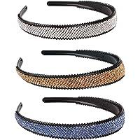 3 Stukken Mode Elastische Kristal Haarband, Strass Kralen Elastische Hoofdband Kristal Kralen Hoofdband, voor Het…