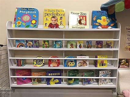 Top home solutions® libreria a parete in legno per bambini scaffali