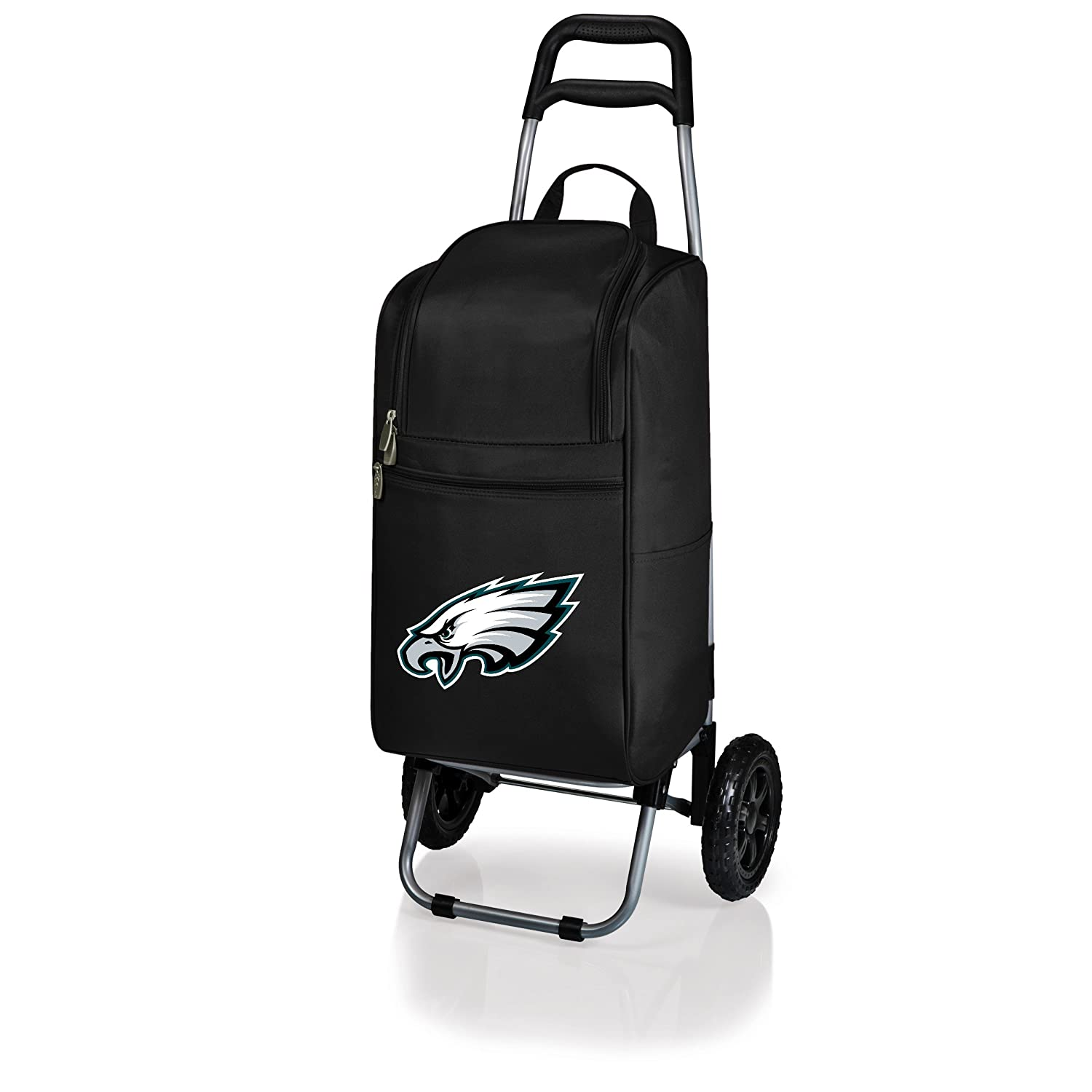 PICNIC TIME NFL Philadelphia Eagles Insulated Cart Cooler with Wheeled Trolley Black