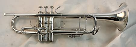 side facing bach 180S37 professional trumpet