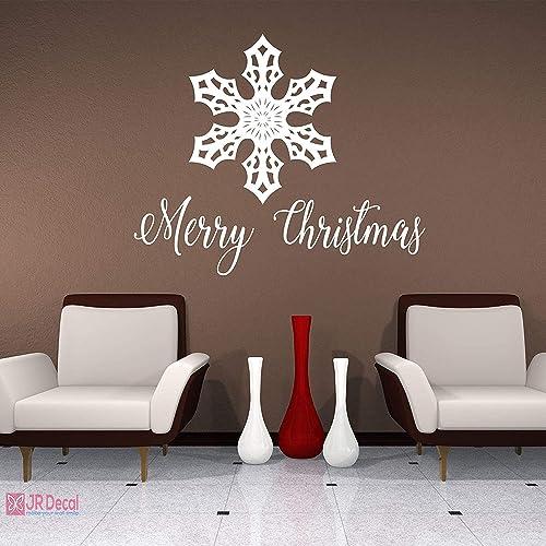 Décoration d/'intérieur accessoires amovibles Joyeux Noël étoile Autocollant Mural Decal