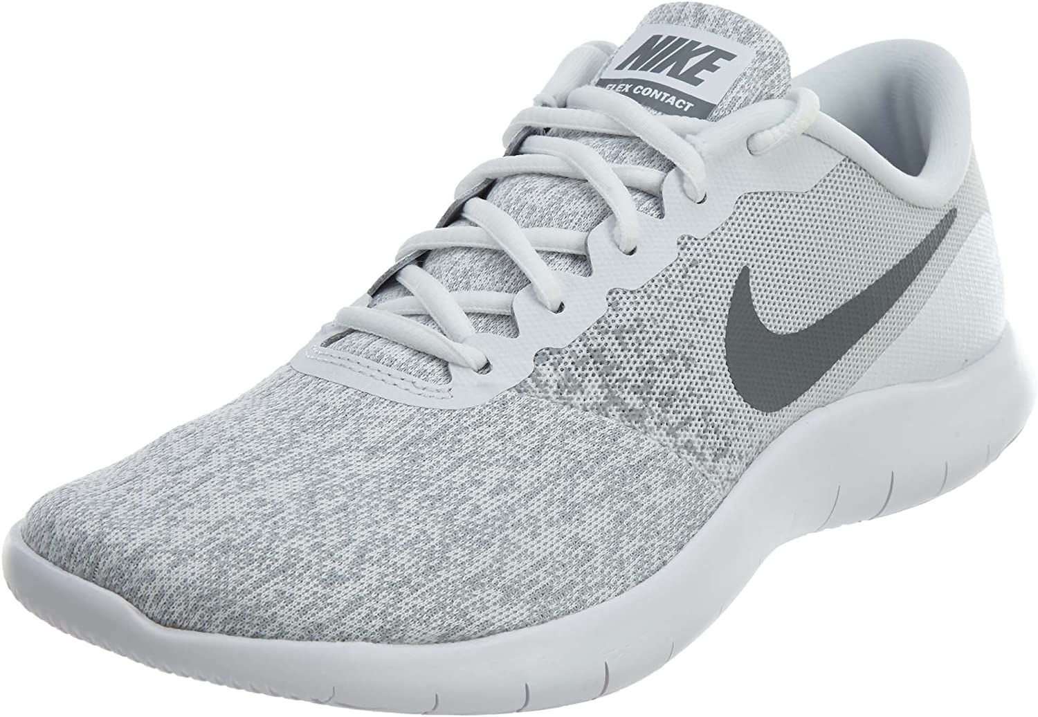 Nike Women s Flex Contact Running Shoe White Cool Grey-Metallic Silver