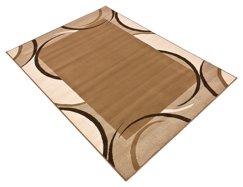 Design Velours Teppich Jolie beige   braun 101094, Größe 160 x 230 cm