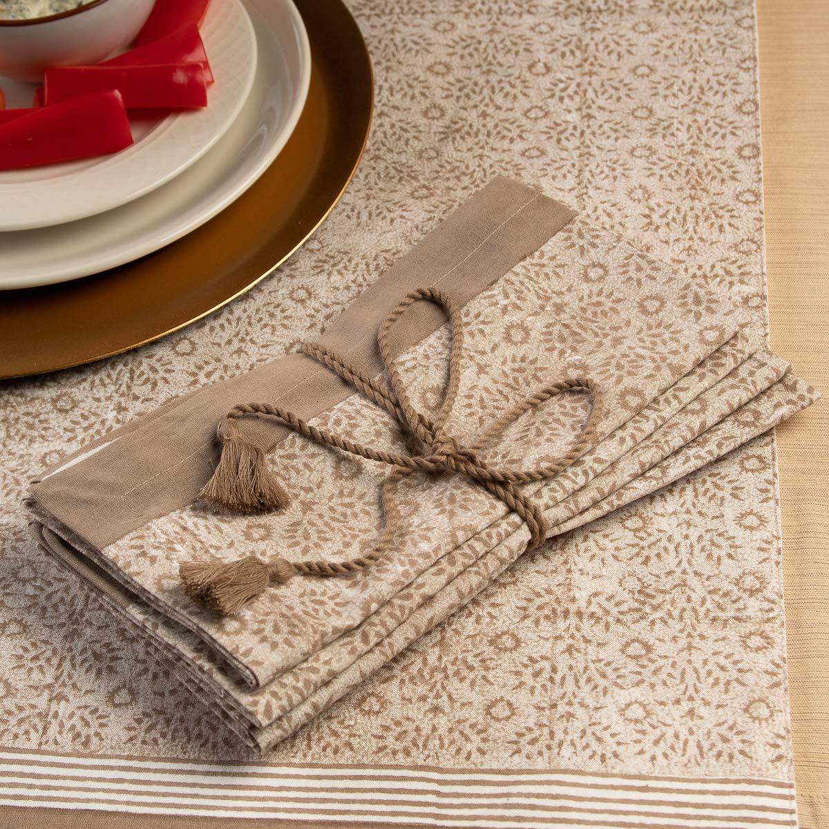 "tag 4 Pack 20x20/"" 100/% Cotton Napkins Dining Table Home Decor Cloth Napkins Fabric Dinner Napkins"