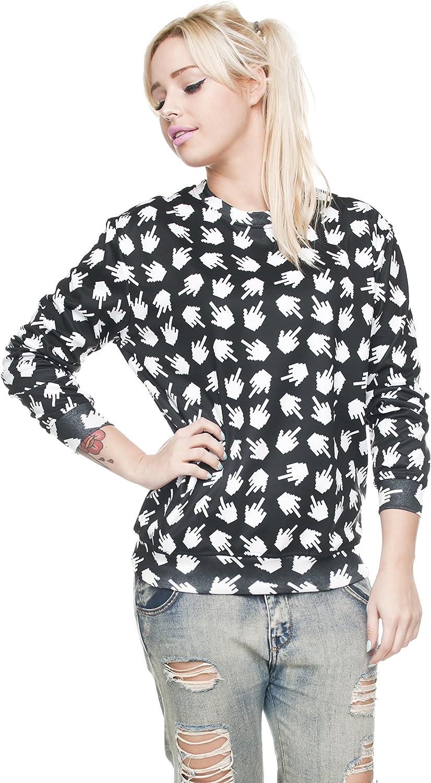 Fringoo Mens Print Sweatshirt 3D Pullover Yoga Long Sleeve Jumper Gugu Top One Size Fits S//M Pixel Fuck