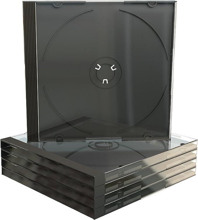 MediaRange BOX22-M Caja transparente para CD 1discos Negro ...
