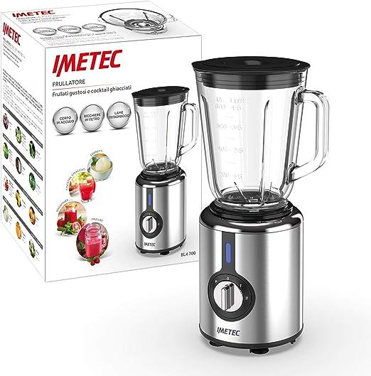 IMETEC Professional Serie BL - Batidora, 300 W, 800 ml, tritura hielo, color negro y gris: Amazon.es: Hogar