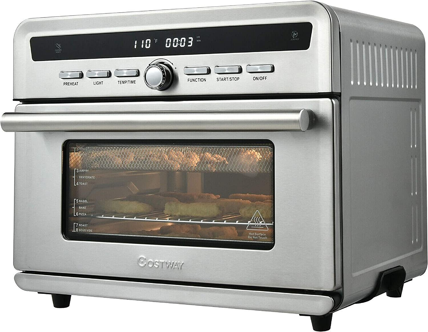 HomyDelight Oven, 26.4 Qt 1800W 10-in-1 Air r Toaster Oven with Recipe