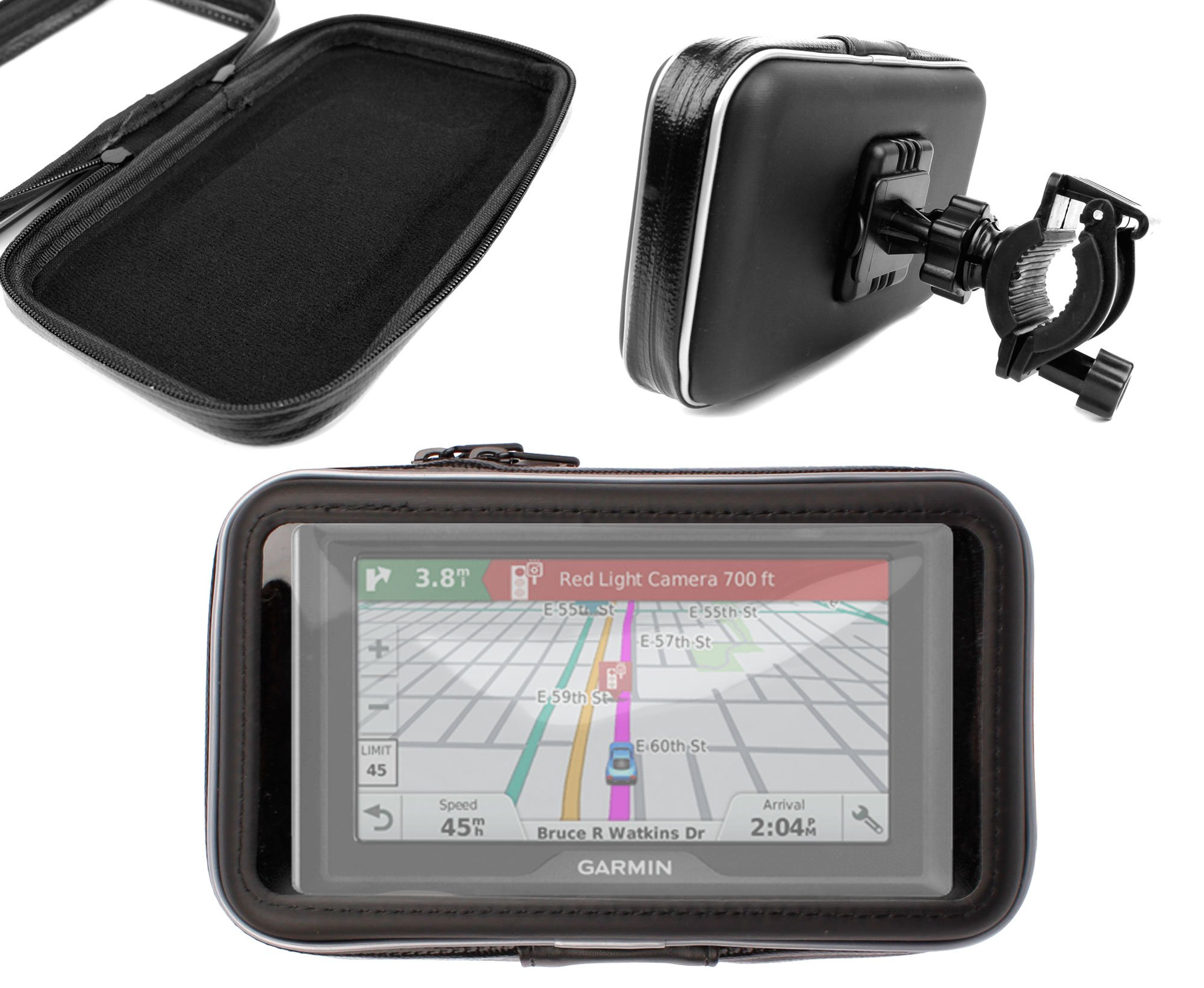 DURAGADGET Exclusive Water-Resistant & Shock-Absorbing Cyclists' Satnav Case & Bike Handlebar GPS Mount - Compatible with The New Garmin Drive 50 / 50LM / 50LMT / 50LMT CE