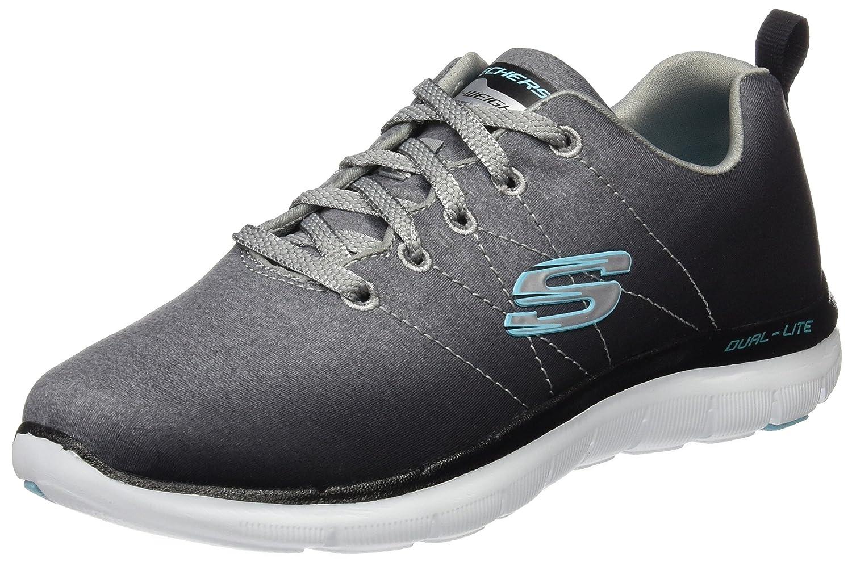 Skechers Damen Flex Appeal 2.0 Sneakers  35 EU|Grau (Wsl)