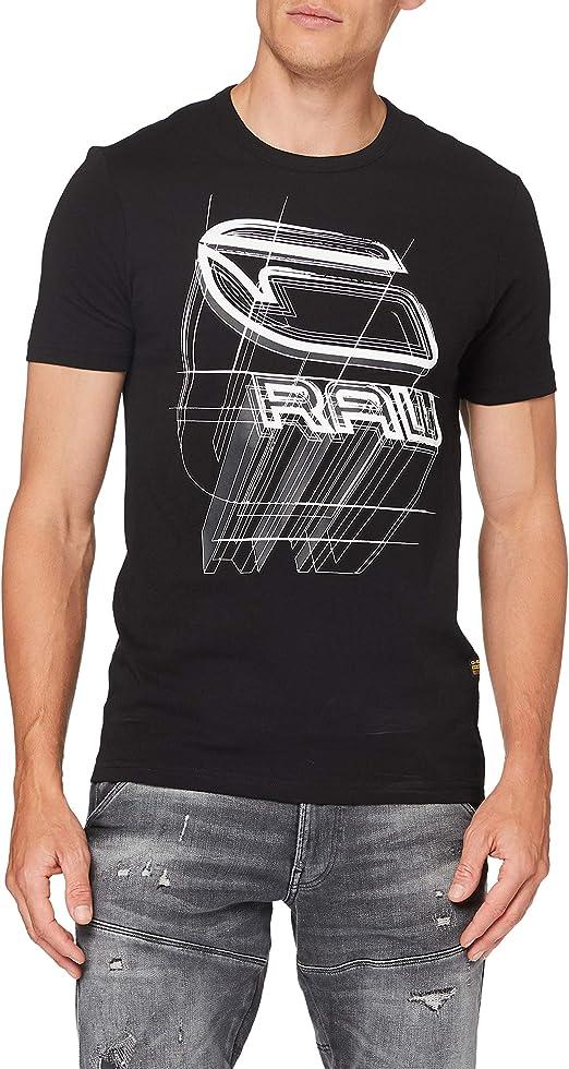 TALLA M. G-STAR RAW Perspective Logo Graphic Slim Camiseta para Hombre