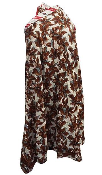 Vintage tamaño del vestido mágico Wrap Plus falda larga de seda Jardín cabestro sarong