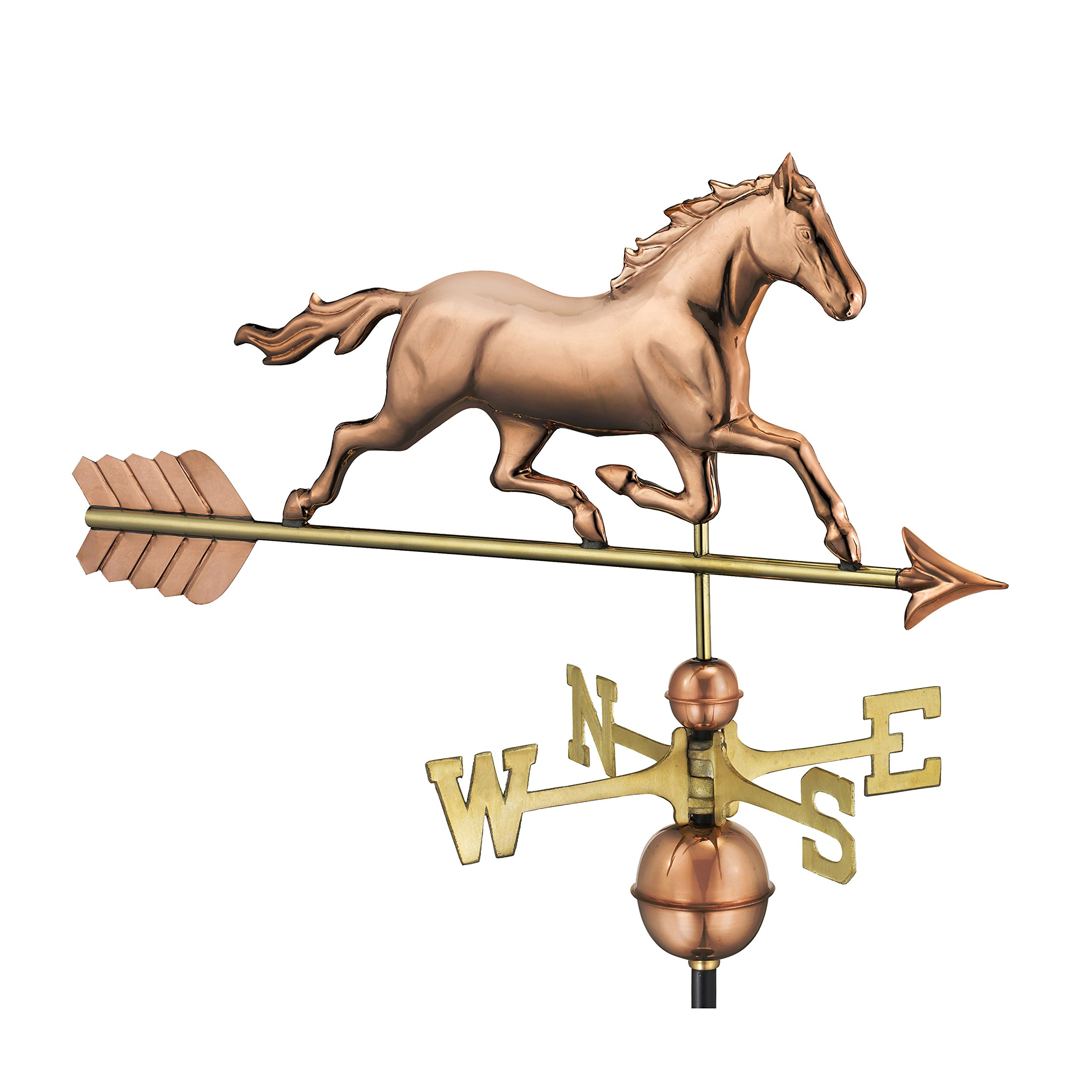 Good Directions Trotting Horse Weathervane, Pure Copper by Good Directions