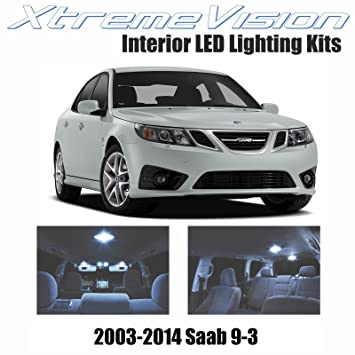 Amazon.com: XtremeVision Saab 9-3 2003-2014 (7 Pieces) Cool White Premium Interior LED Kit Package + Installation Tool: Automotive
