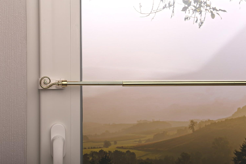 Tringle extensible Spirale Laiton antique diff/érentes tailles 40-60 cm cuivr/é supports de serrage sans per/çage pour suspension de Paire de Vitrages Droits