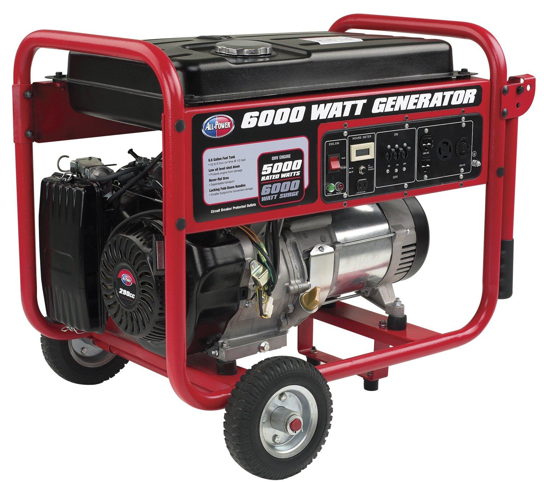 Amazon.com : All Power America APGG6000, 6000 Watt Generator, 6000W Gas  Portable Generator, EPA Certified : Garden & Outdoor