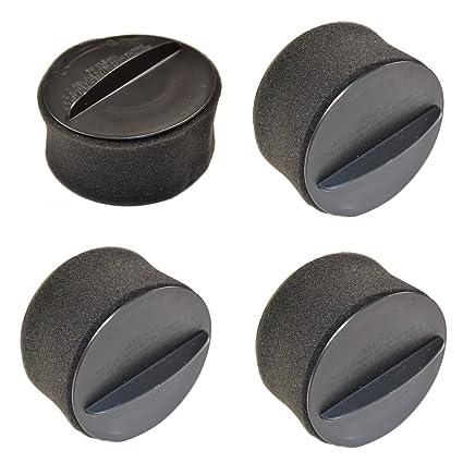 .com - hqrp 4-pack circular filter set for bissell 1240, 12401 ...