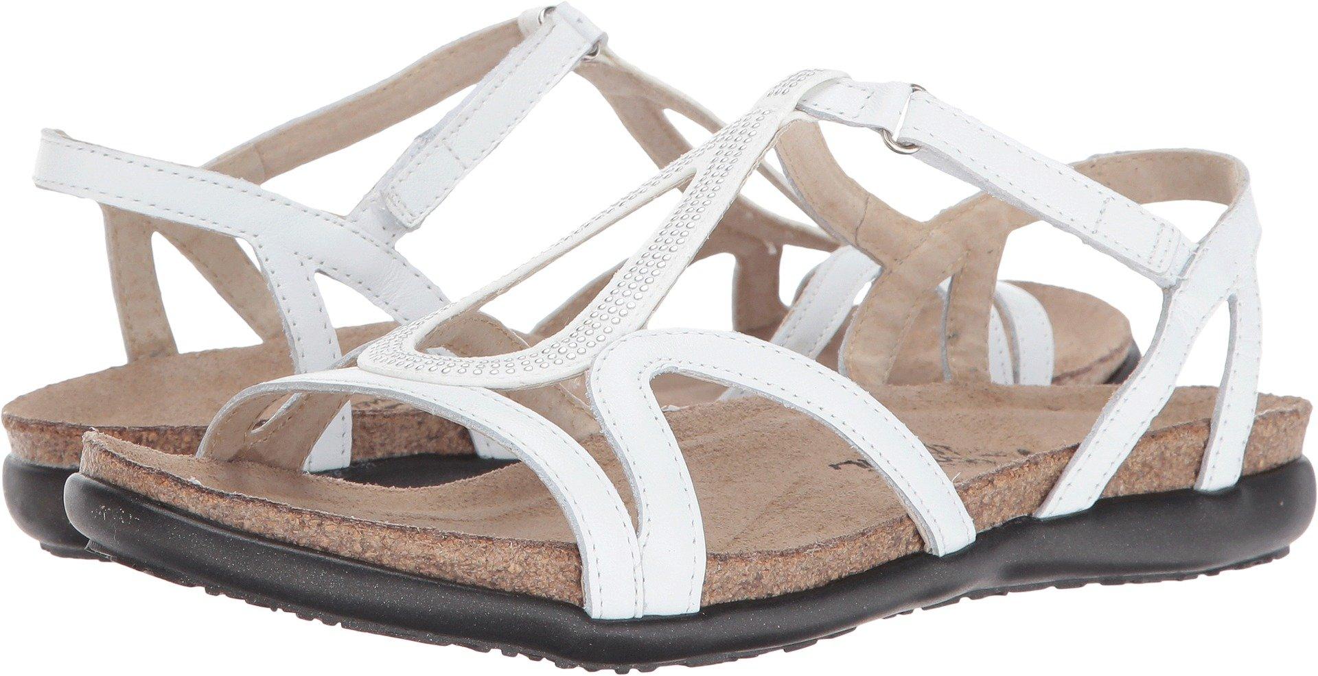 Naot Footwear Women's Tamara White Leather/Silver Rivets Sandal by Naot Footwear