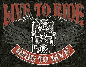 Desperate Enterprises Live to Ride Bike Tin Sign Flat New 31X40cm S1047