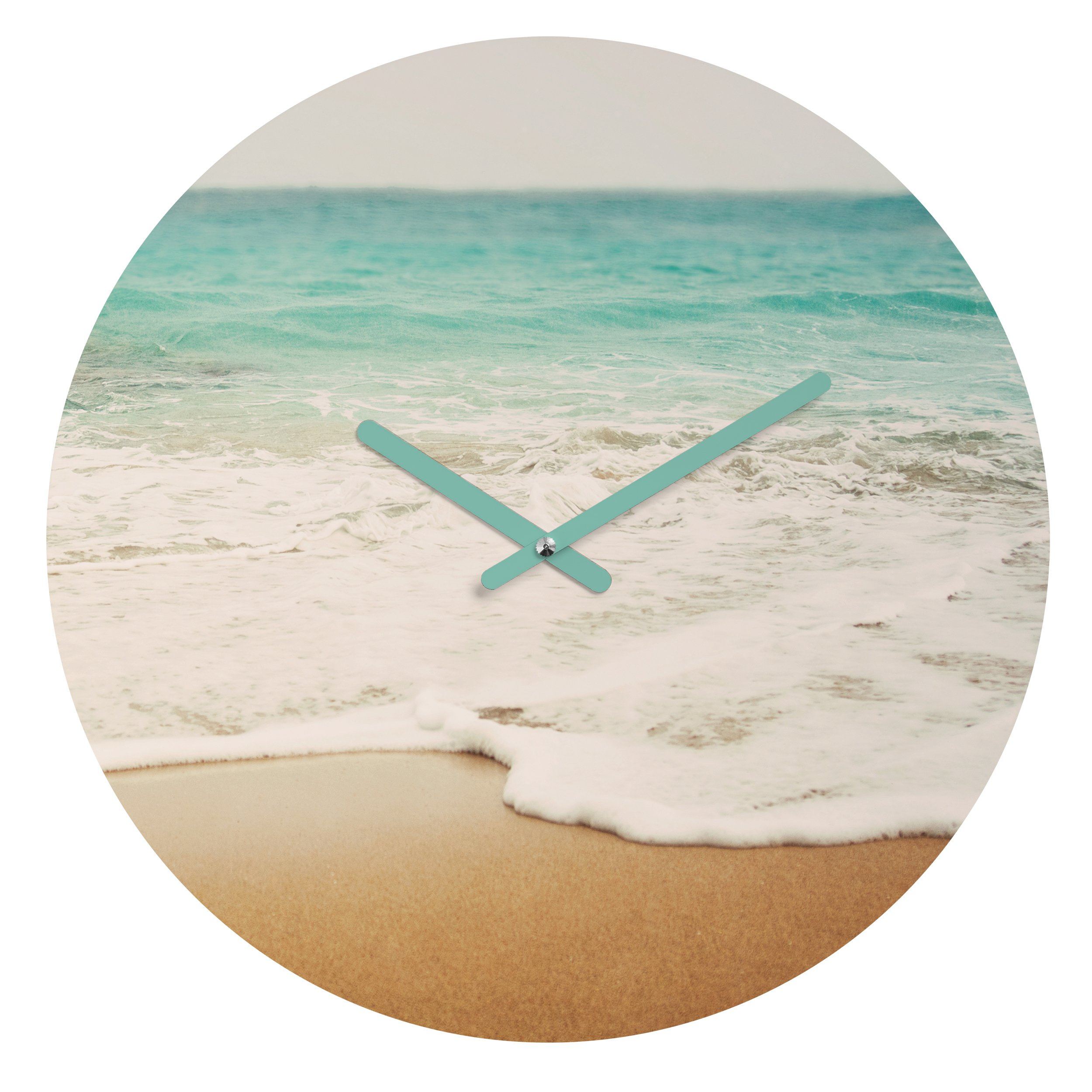 Deny Designs  Bree Madden, Ombre Beach , Round Clock, Round, 12''