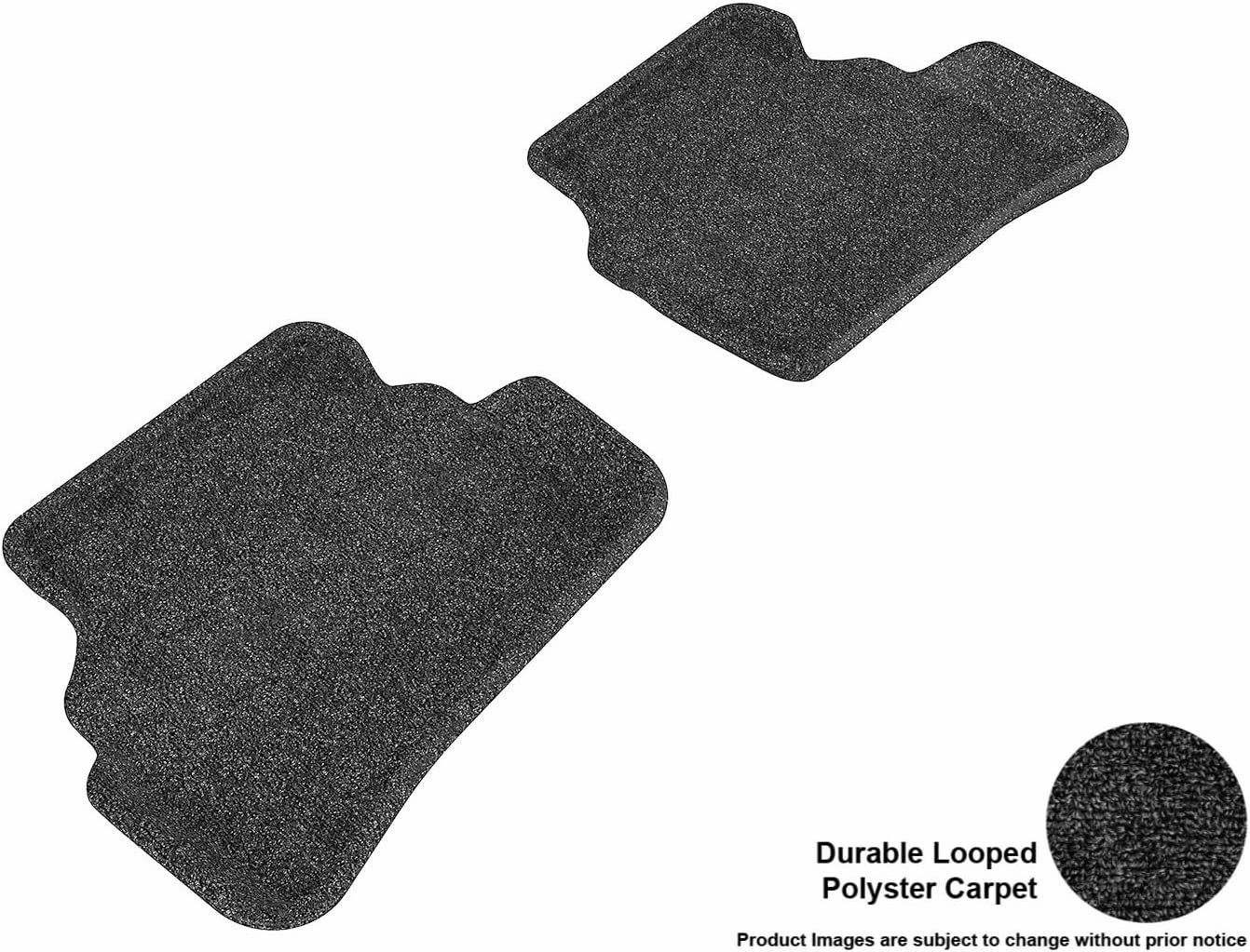 Gray 3D MAXpider Complete Set Custom Fit Floor Mat for Select Mercedes-Benz E-Class W212 Models Classic Carpet