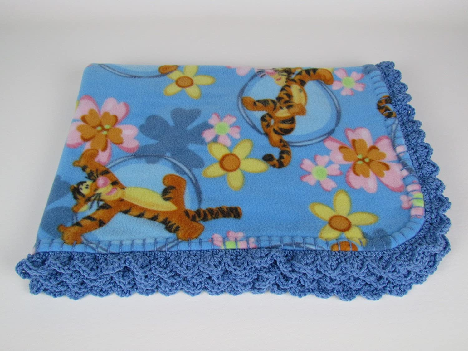 Disney's Tigger in Blue Fleece Baby Blanket