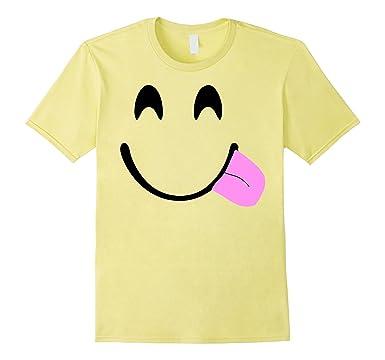Mens Emoji Shirt Halloween Costume Emoji Tongue Out Goofy 2XL Lemon  sc 1 st  Amazon.com & Amazon.com: Emoji Shirt Halloween Costume Emoji Tongue Out Goofy ...