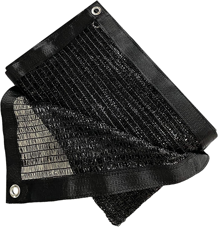 Garden EXPERT 40% 10'X 10' Black Shade Cloth Taped Edge with Grommets Sunblock Net Sun Mesh for Patio Garden Backyard