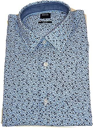 Hugo Boss Ronni_53F Camisa de algodón con estampado exclusivo ...
