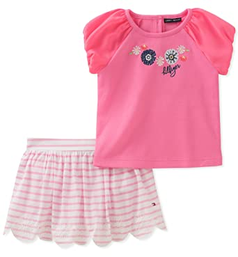 73a1fe5e Amazon.com: Tommy Hilfiger Baby Girls Skort Set: Clothing