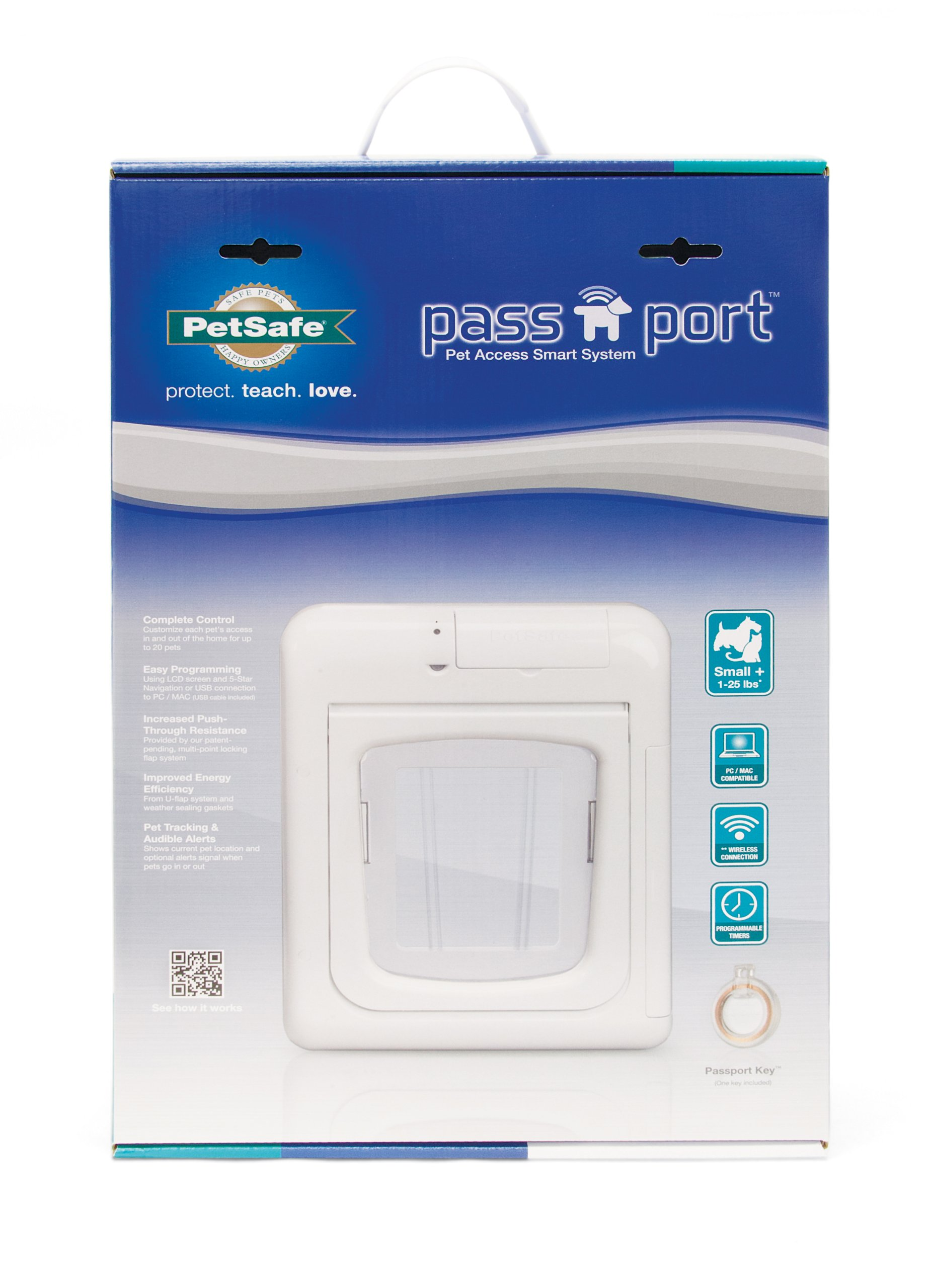 PetSafe Passport Selective Entry and Selective Exit Pet Door, White, Small+ by PetSafe