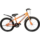 Atlas Mettle TT 20inches Single Speed Bike for Kids of Age 7-9Yrs Orange & Black
