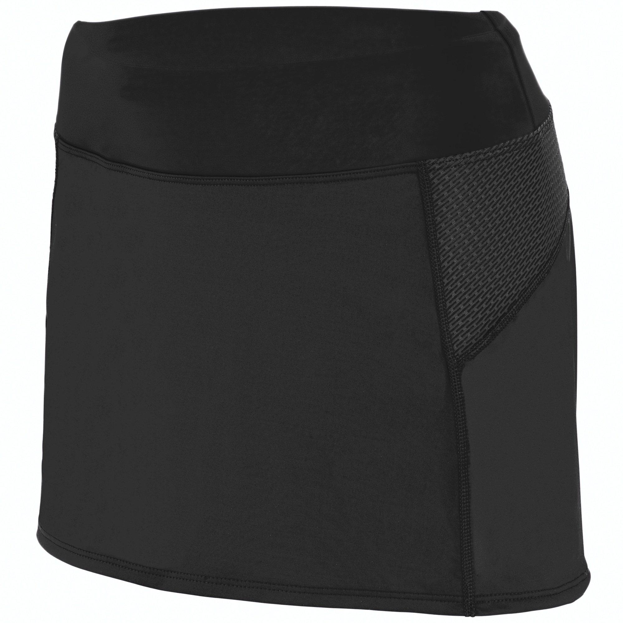 Augusta Sportswear Girls Femfit Skort S Black/Graphite by Augusta Sportswear