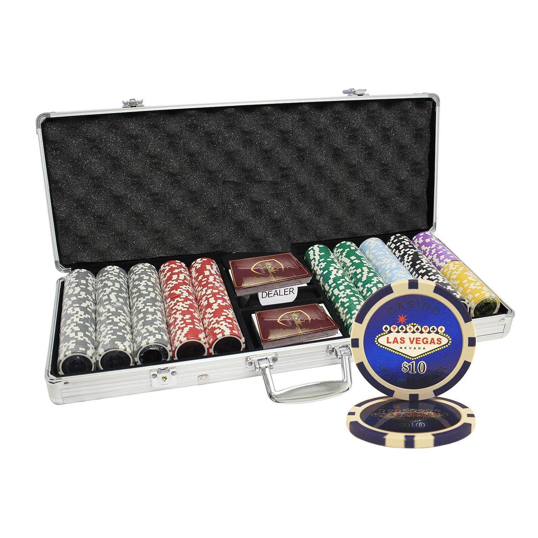 MRC 500枚入りLas 500枚入りLas Vegas Laser Poker Aluminumケース B00WS5MTN6 Chipsセットwith Aluminumケース B00WS5MTN6, FREE PARTS:be75ab57 --- itxassou.fr