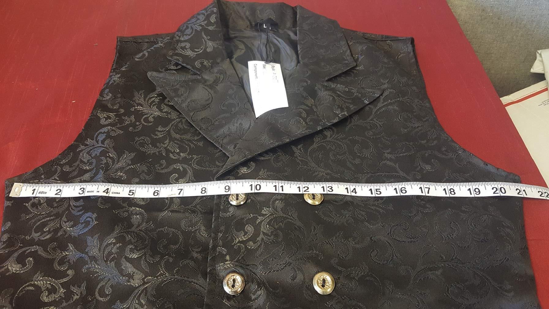 Darkrock Men's Brocade Vest Waistcoat Gothic Steampunk Victorian/Western-Reenactment 5
