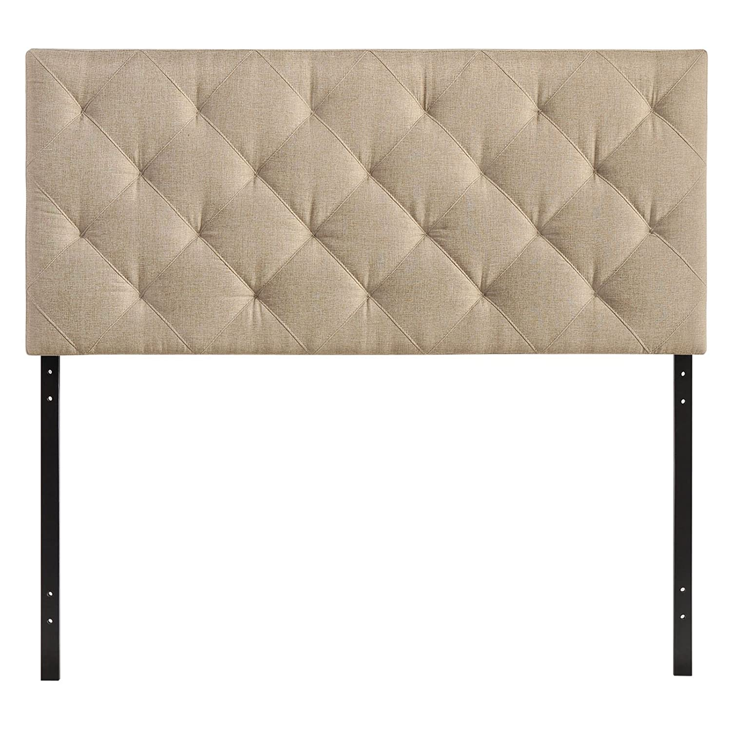 Amazoncom  Modway Theodore Upholstered Fabric Tufted Headboard In Beige,