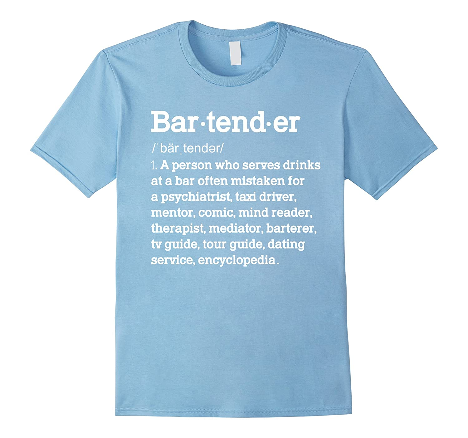 3f5a93209 Funny Bartender Definition Tshirt Gift for Bartenders-TD – theteejob