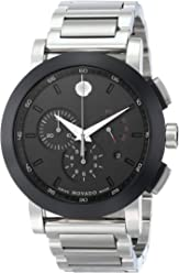 Movado Mens 0606792 Museum Sport Stainless Steel Watch with Black Dial