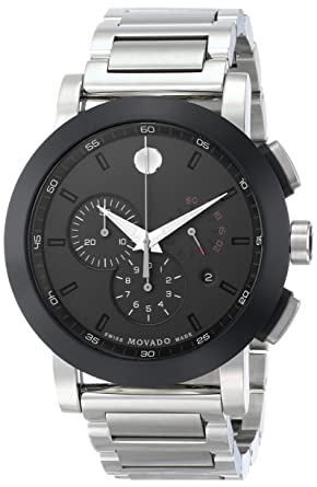 e15179778 Image Unavailable. Image not available for. Color: Movado Men's 0606792  Museum Sport Stainless Steel Watch with Black Dial